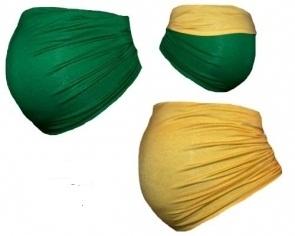 Tehotenský pás DUO - zelená so žltou