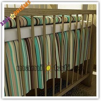 Volánik pod matrac BABY DREAMS - Prúžok čokoláda, 140x70