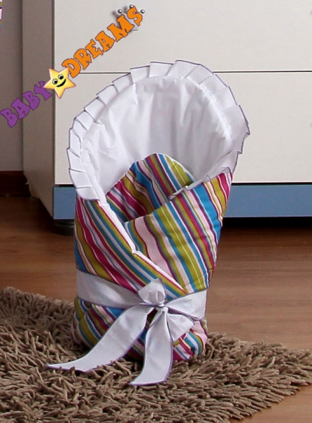 Zavinovačka BABY DREAMS - Prúžok amarant