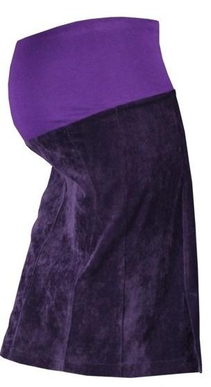 Gregx Tehotenská sukňa MALO - fialová