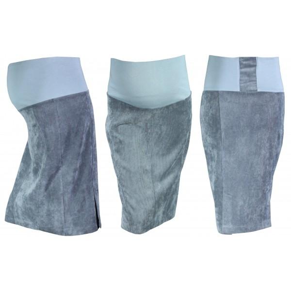 Tehotenská sukňa MALO - šedá