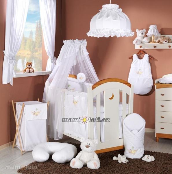 Luxusný mega set s výšivkou Š - Hojdačka biela