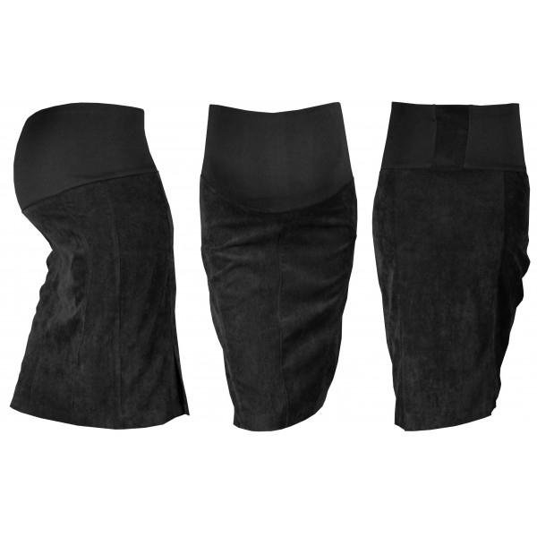 Gregx Tehotenská sukňa MALO - čierna