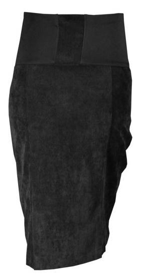 Tehotenská sukňa MALO - čierna-XXXL