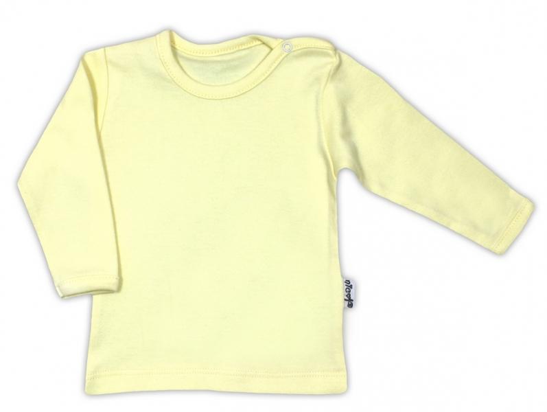 Bavlnená košieľka / podkošilka - žltá, 62 (2-3m)