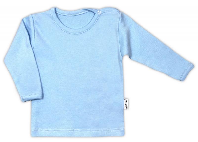 Bavlnená košieľka / podkošilka - modrá, 62 (2-3m)