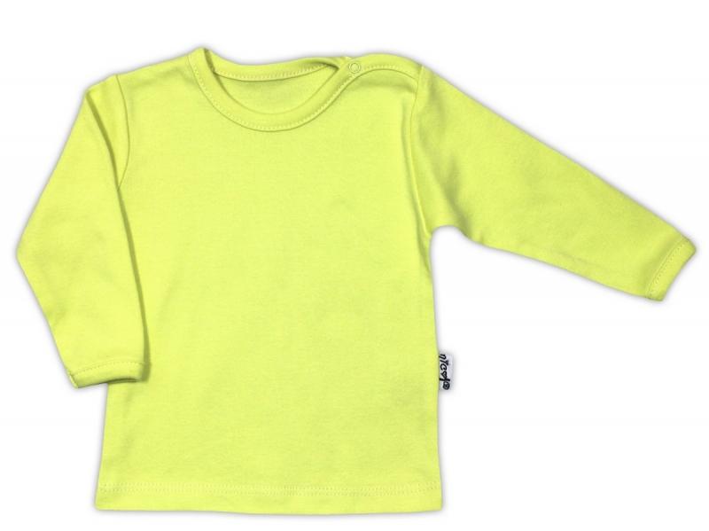 Bavlnená košieľka / podkošilka - zelená, 62 (2-3m)