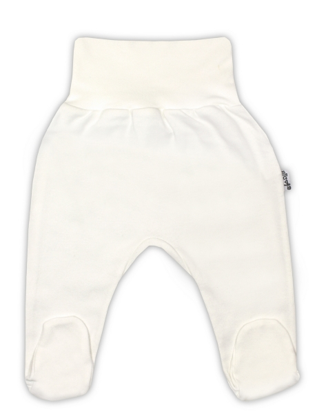 Bavlnené polodupačky - ecru-80 (9-12m)