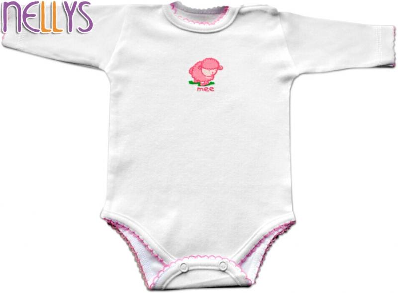 Baby Nellys Body dl. rukáv - Ovečka