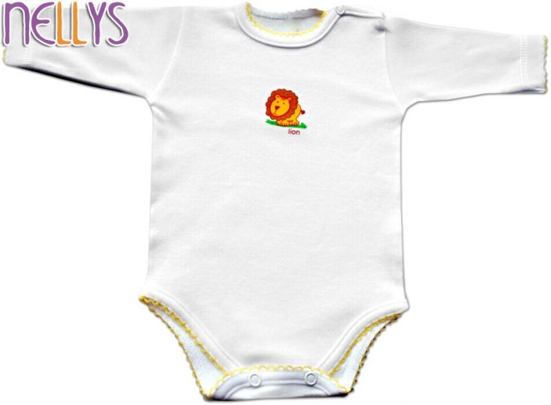 Baby Nellys Body dl. rukáv - Lvíček