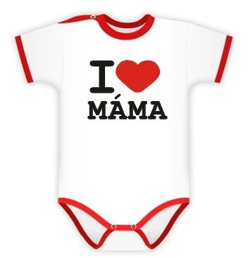 DEJNA Body Kr. rukáv I love Mama, vel´. 74, K19