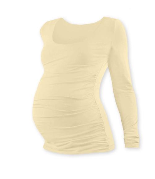 Tehotenské tričko JOHANKA s dlhým rukávom - caffe latte