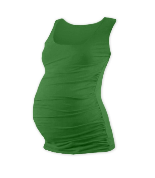 Tehotenský top JOHANKA - tm. zelená