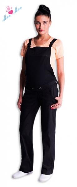 Tehotenské nohavice na traky čierne
