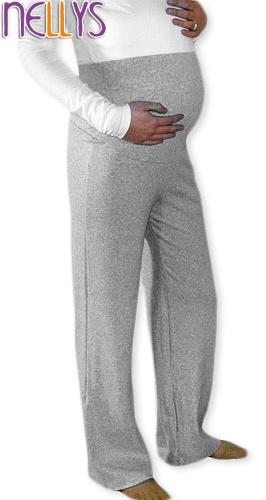 Tehotenské tepláky - sivý melír-S