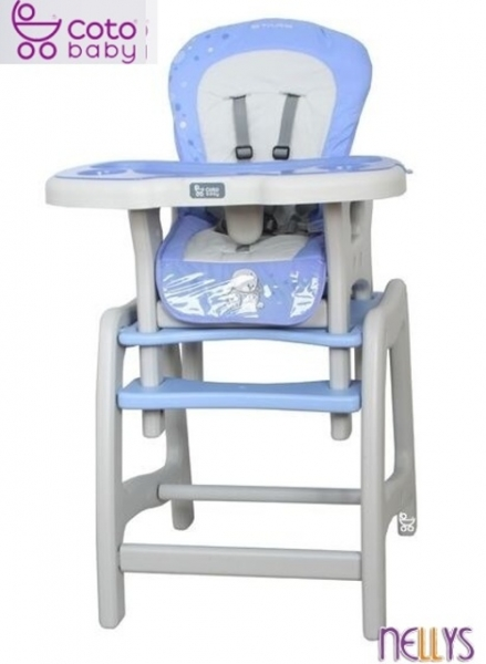 Jedálenský stolček Coto Baby STARS blue