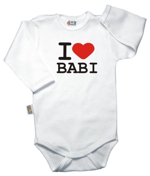 Body dl. rukáv Kolekcia I Love Babi, vel´. 68