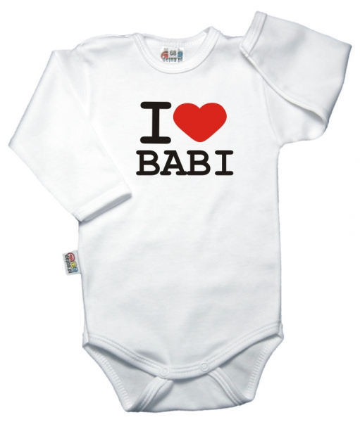 Body dl. rukáv Kolekcia I Love Babi, vel´. 86