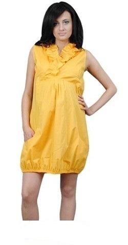 Be MaaMaa Tehotenské šaty TULIPÁNEK - žltá