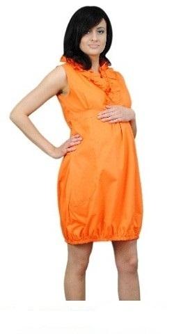 Tehotenské šaty TULIPÁNEK - oranžová