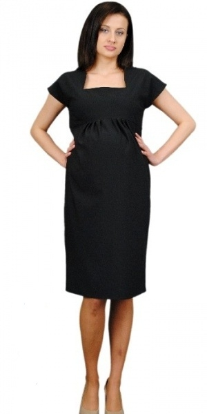 Tehotenské šaty ELA - čierna
