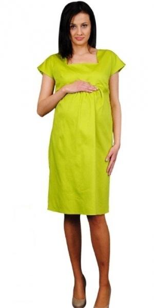 Tehotenské šaty ELA - limetka