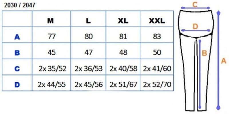 Tehotenské farebné legíny 3/4 dĺžky - biela