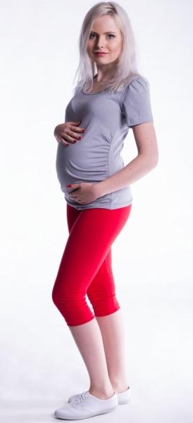 Tehotenské farebné legíny 3/4 dĺžky - červená veľ. M, L
