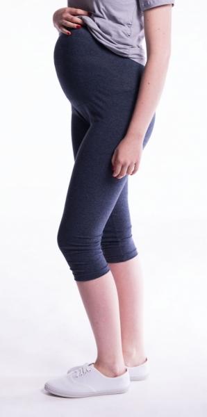 Tehotenské farebné legíny 3/4 dĺžky - šedá