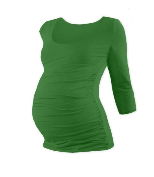 Tehotenské tričko 3/4 rukáv JOHANKA - tm. zelená