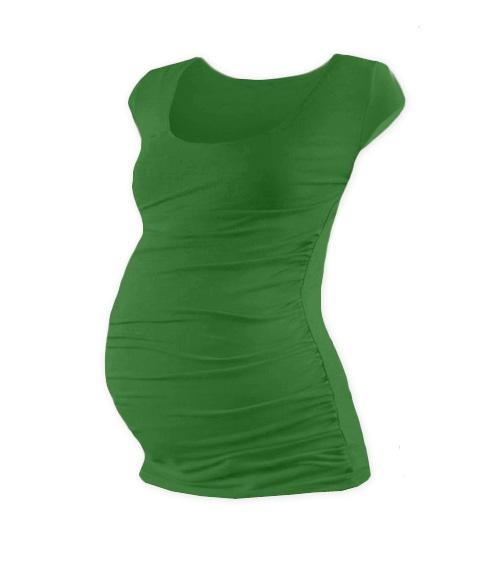 JOŽÁNEK Tehotenské tričko mini rukáv JOHANKA - tmavo zelená