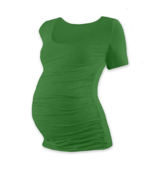 JOŽÁNEK Tehotenské tričko krátky rukáv JOHANKA - tmavo zelená