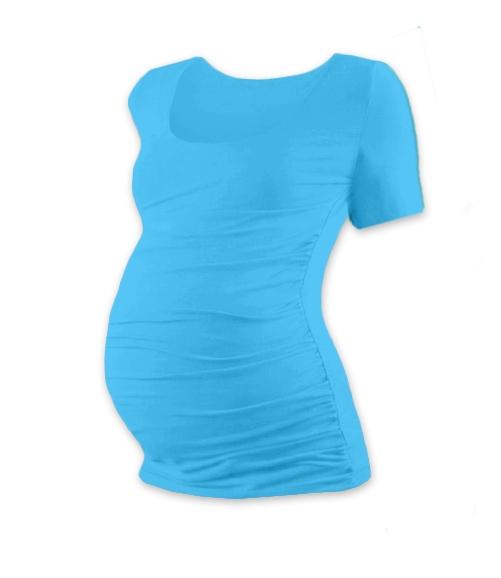 Tehotenské tričko krátky rukáv JOHANKA - tyrkys