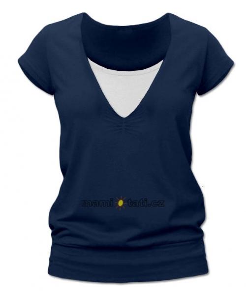 Dojčiace tehotenské tričko JULIE - jeans