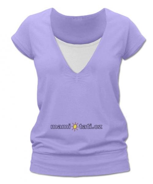 Dojčiace tehotenské tričko JULIE - šeríková