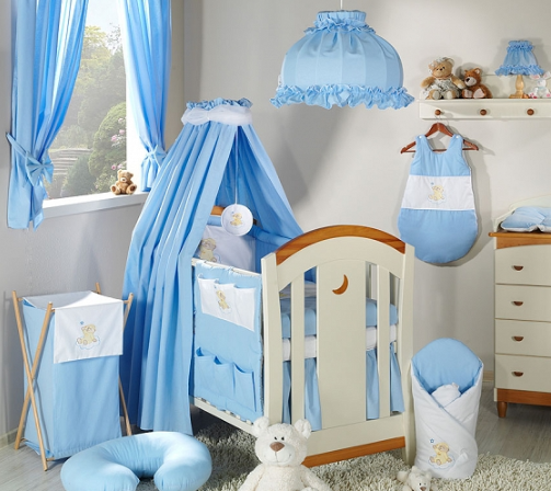 Luxusný 5D set s nebesami z celej látky Mamo Táto - Mráček modrý