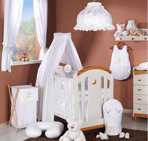 Luxusný 5D set s nebesami z celej látky Mamo Táto - Mráček biely