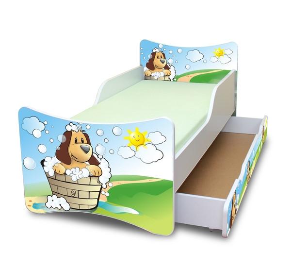 Detská posteľ a šuplík / y