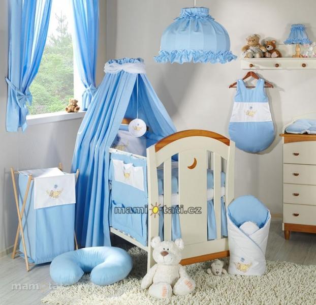 Luxusný 5D set s nebesami z celej látky Mamo Táto - Hojdačka modrá