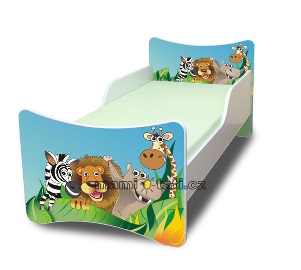 NELLYS Detská posteľ so zábranou Zoo