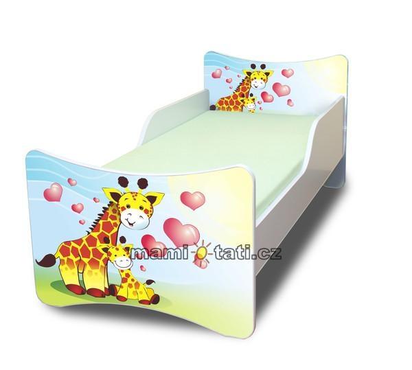 Detská posteľ Žirafky, 140x70