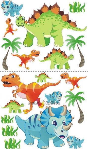 Nálepky, dekorácie na stenu 70x100 cm - Dino,