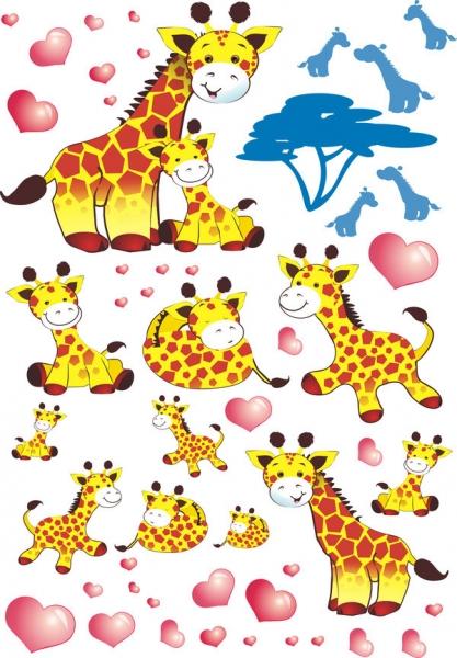 Nástenná dekorácia Žirafky