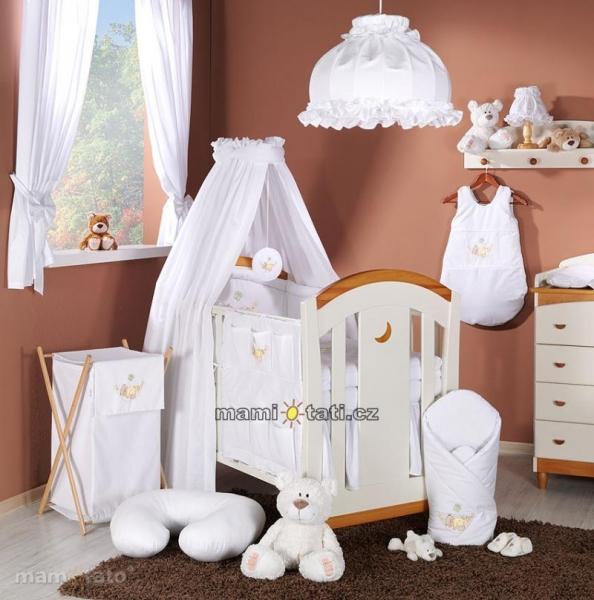 Luxusný 5D set s nebesami z celej látky Mamo Táto - Hojdačka biela