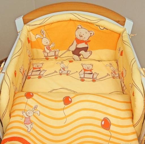 Mantinel s obliečkami - Kamaráti v pomaranči 135x100