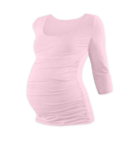 20bfabbb446e Tehotenské tričko 3 4 rukáv JOHANKA - sv. ružová