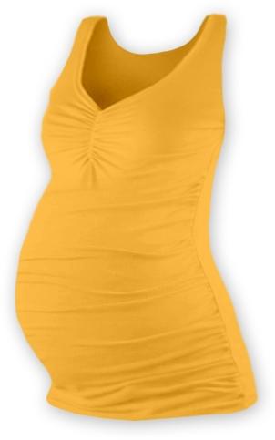 Tehotenský top JOLANA - sv. oranžová