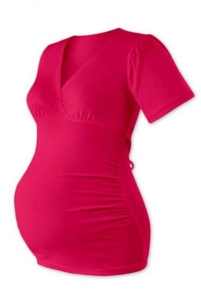 Tehotenská tunika VERONA - sýto ružová
