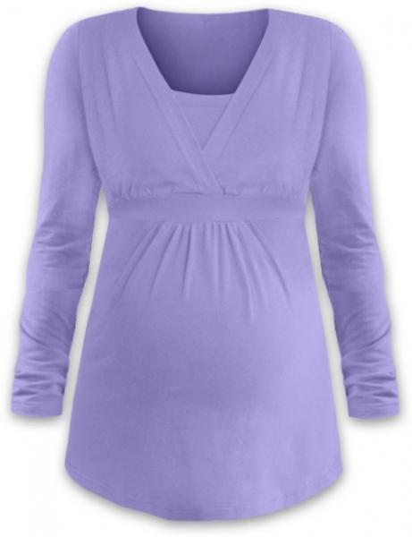 JOŽÁNEK Dojčiace aj tehotenská tunika ANIČKA s dlhým rukávom - orgovánová