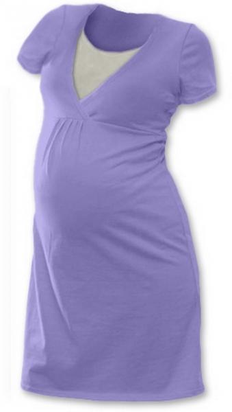Tehotenská, dojčiace nočná košeľa JOHANKA krátky rukáv - orgovánová